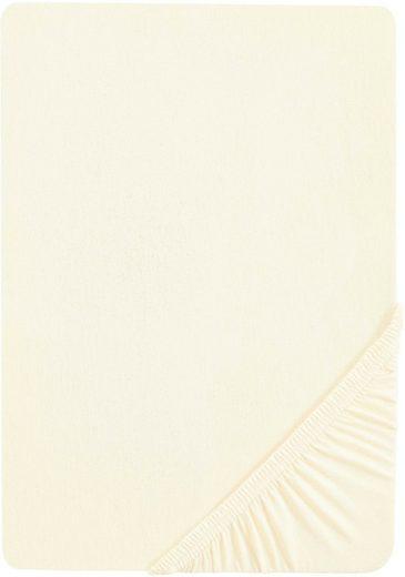 Spannbettlaken »Samy«, Biberna, hochwertiges Jersey-Elasthan für Topper geeignet