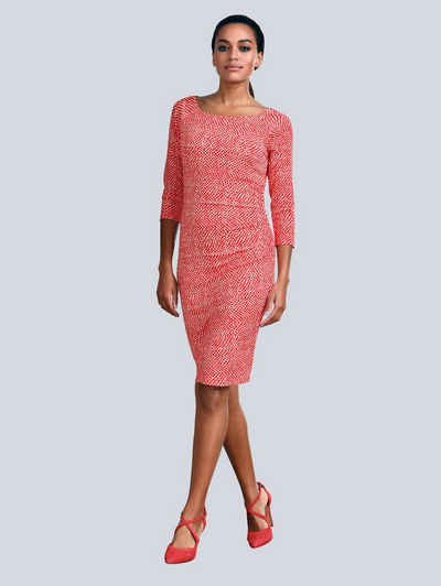 Alba Moda Kleid im Minimal Punkte Dessin 481b8eb8d0