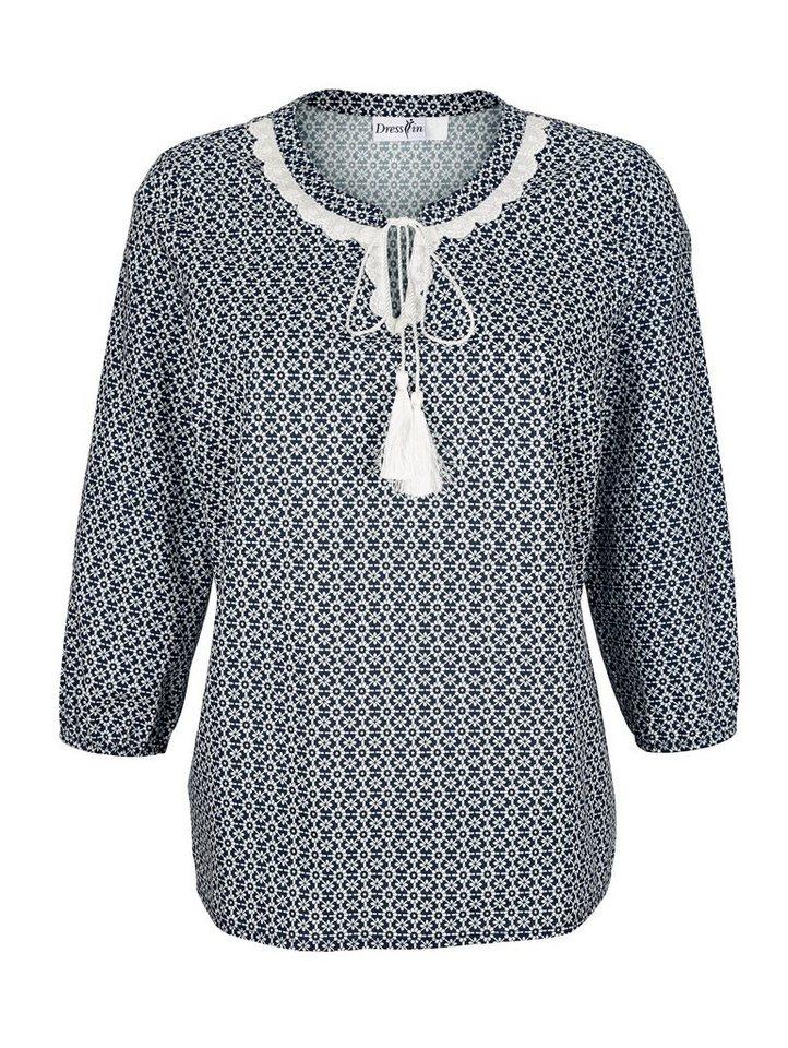 Dress In Tunika mit Spitzendekoration am Ausschnitt | Bekleidung > Tuniken > Sonstige Tuniken | Blau | Dress In