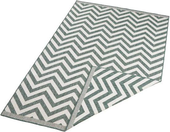 Teppich »Palma«, bougari, rechteckig, Höhe 5 mm, In- und Outdoor geeignet, Wendeteppich, Wohnzimmer