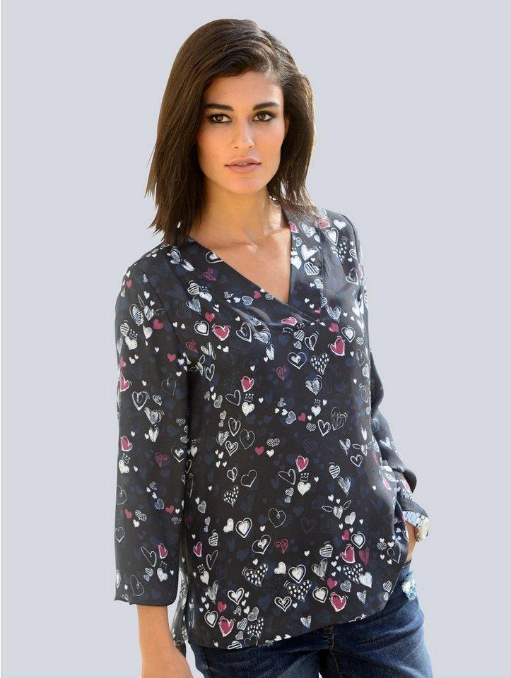 a5b0601536c1 Alba Moda Bluse mit modischem Herzchenprint kaufen   OTTO