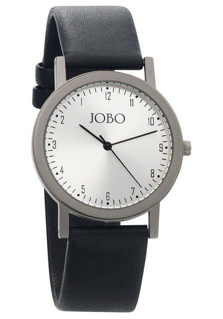 JOBO Titanuhr »Linksläuferuhr« mit Linkslauf | Uhren > Titanuhren | Schwarz | JOBO