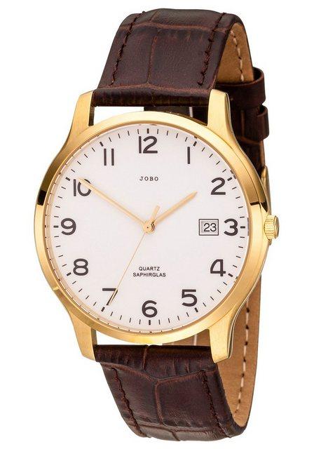JOBO Quarzuhr, mit Lederband | Uhren > Quarzuhren | Jobo