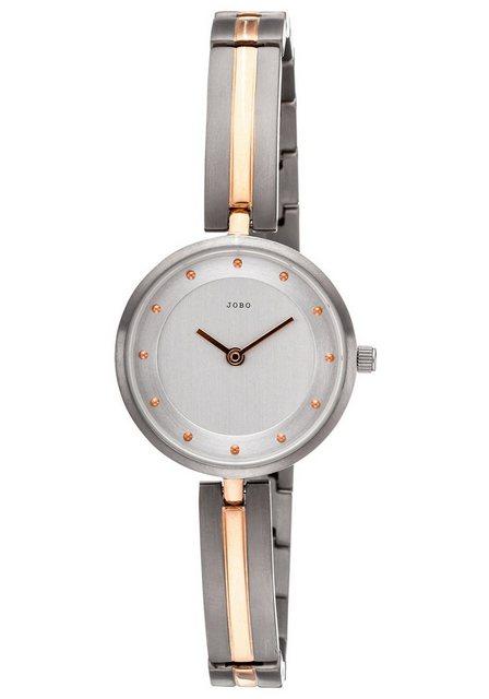 JOBO Titanuhr, in Bicolor Optik mit schmalem Band | Uhren > Titanuhren | Jobo