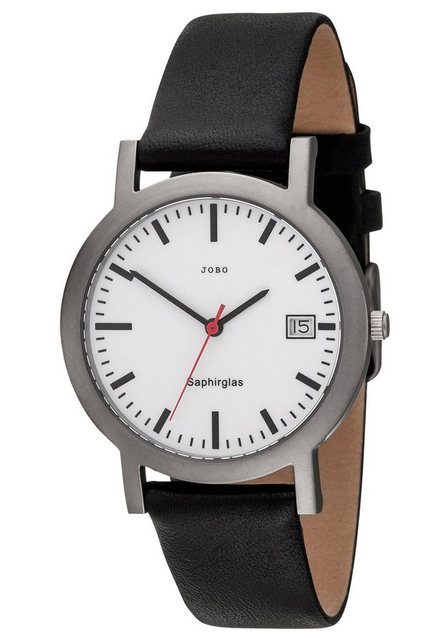 JOBO Titanuhr, mit Lederband   Uhren > Titanuhren   Jobo