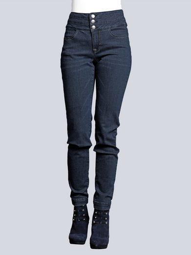 Alba Moda Jeans mit modisch breitem Bund