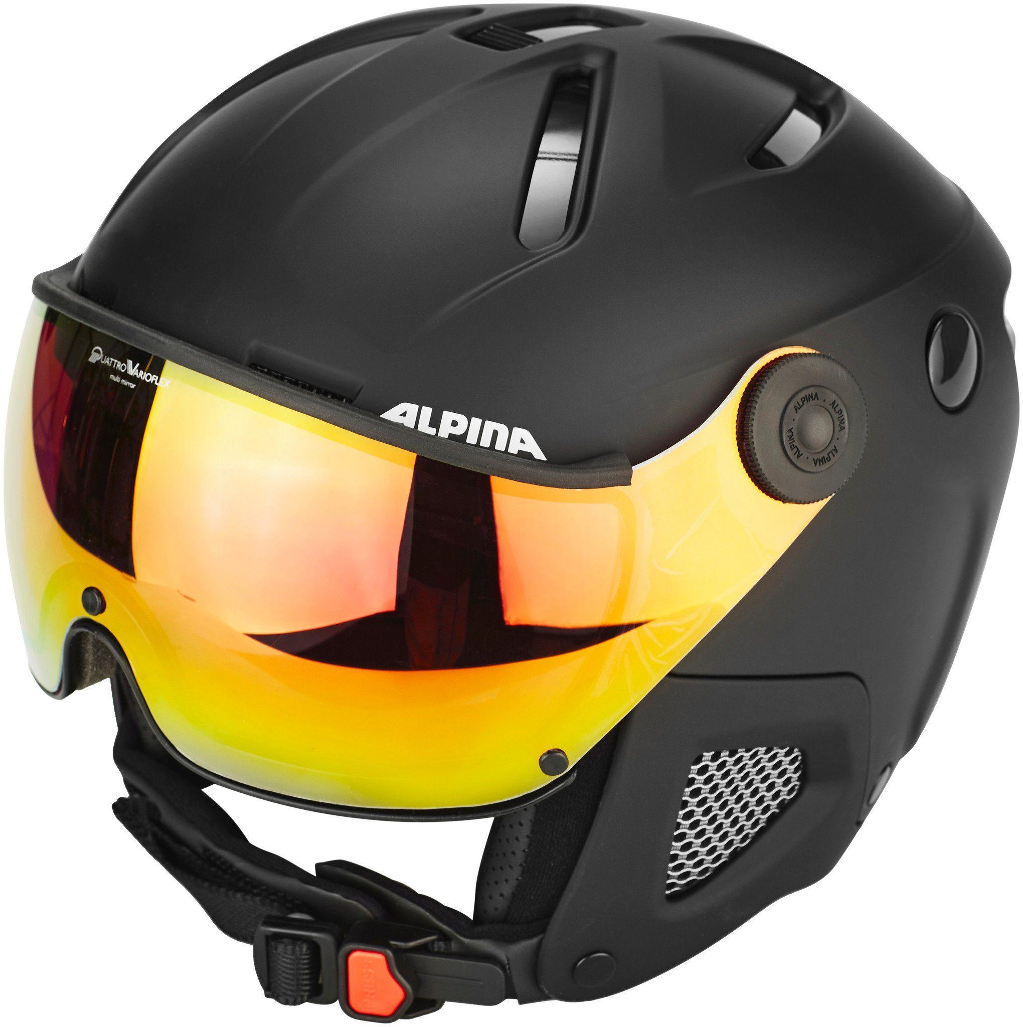 Alpina Sports Ski - / Snowboardhelm »Attelas Visor QVM Helmet«