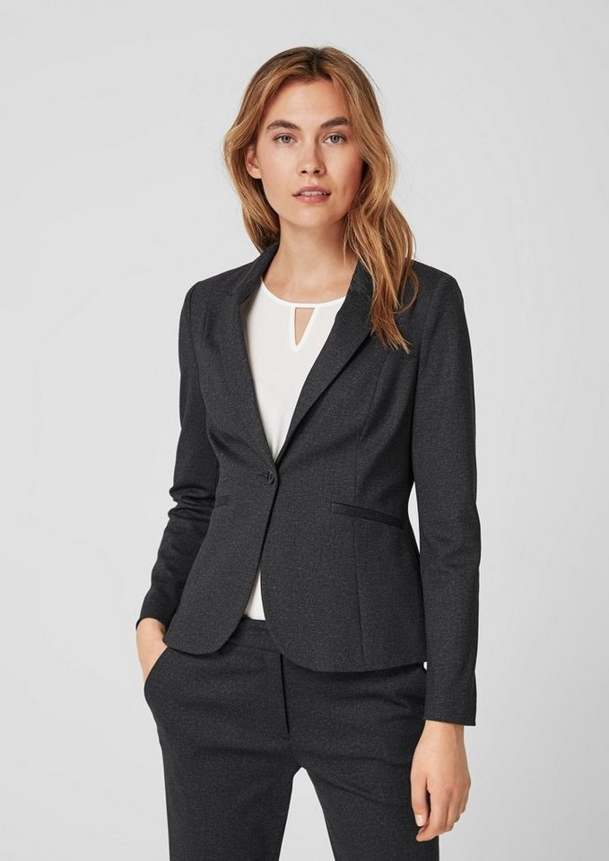 s.Oliver BLACK LABEL Businessblazer aus Jersey   OTTO b9db387222