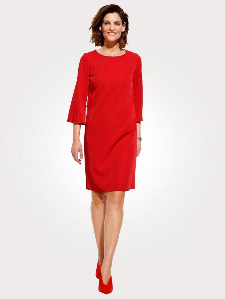 Damen Mona Kleid in modischer Schnittführung rot   04055717333510