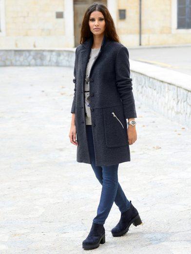 Hochwertiger Wollmischung Mantel Aus Alba Moda zHfZqT