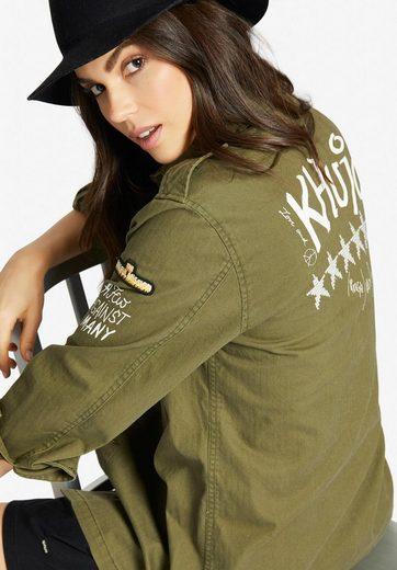 khujo Fieldjacket »CAMELIA« mit Verzierungen