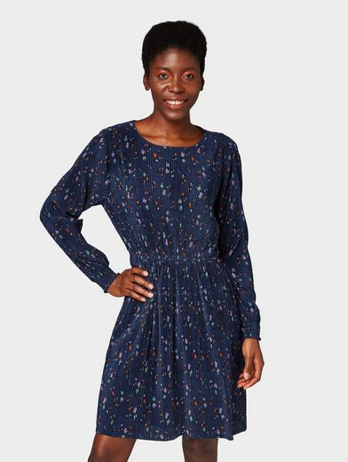 TOM TAILOR Denim Plisseekleid »Kleid mit Blumen-Print«