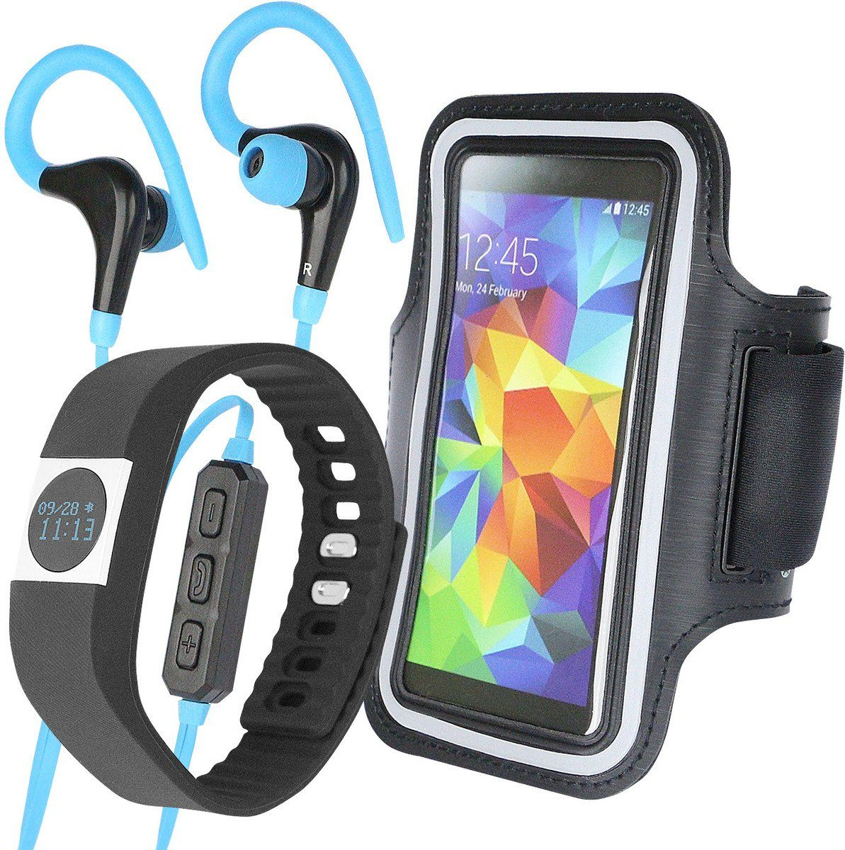 Fontastic Zubehör »3teiliges Fitness-SET: Tracker, Case, Headset«