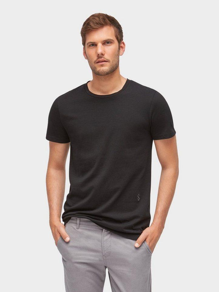 Herren TOM TAILOR Denim  T-Shirt Revolverheld: T-Shirt aus Organic Cotton schwarz | 04060868316053