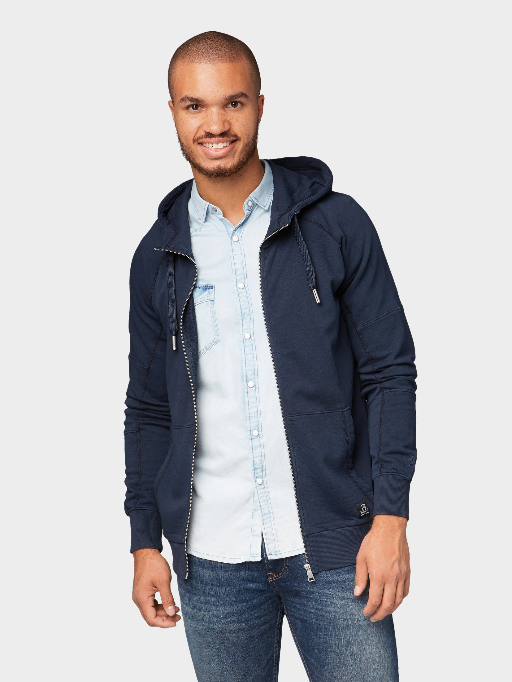 TOM TAILOR Denim Sweatjacke »Schlichte Sweatjacke«