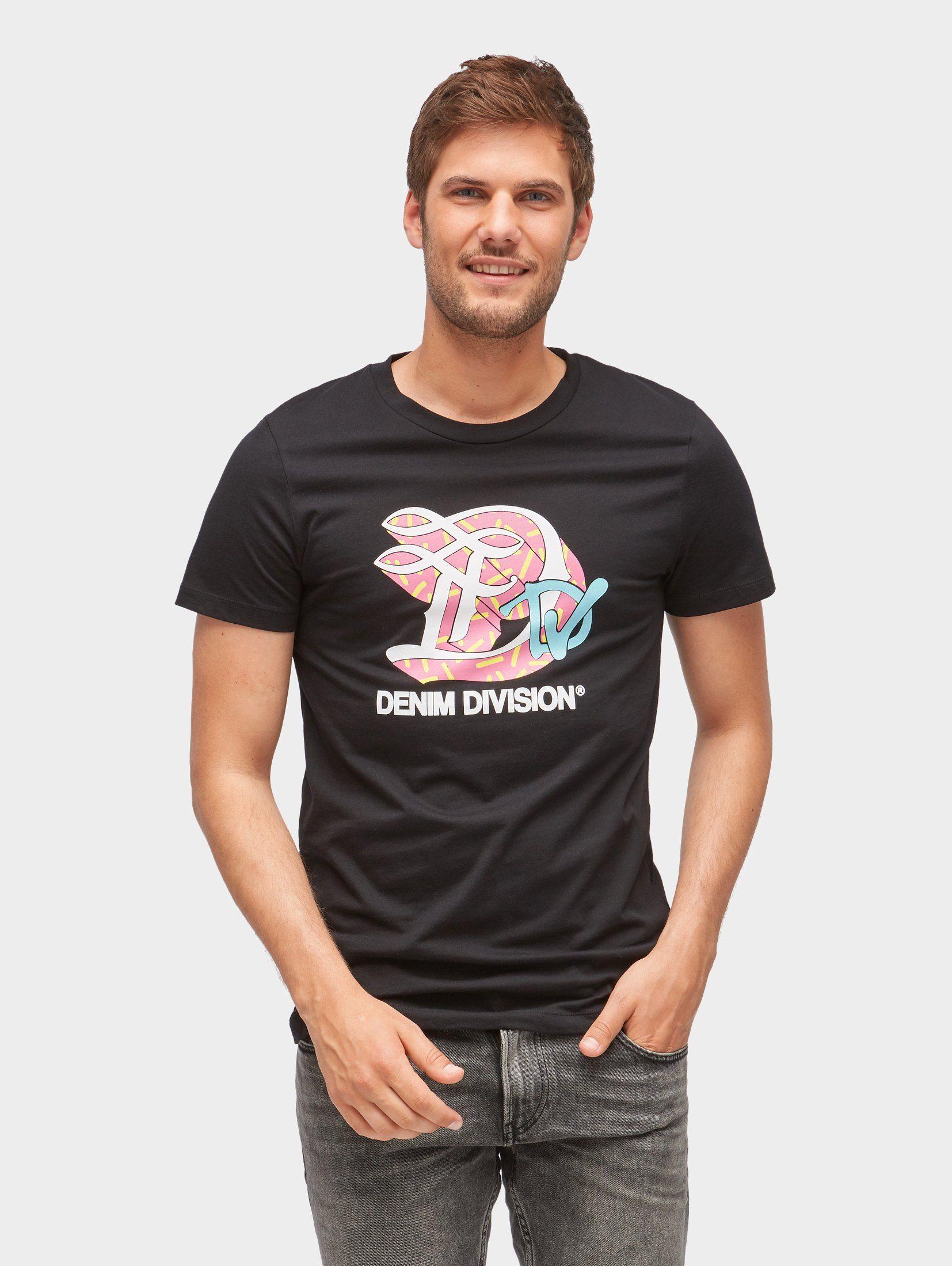 TOM TAILOR Denim T-Shirt »T-Shirt mit Logo-Print«