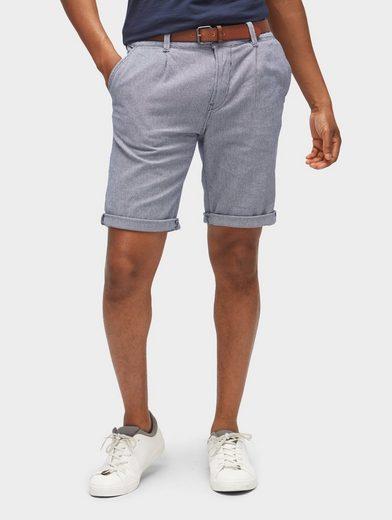 TOM TAILOR Denim Bermudas »Chino Slim Shorts mit Gürtel«