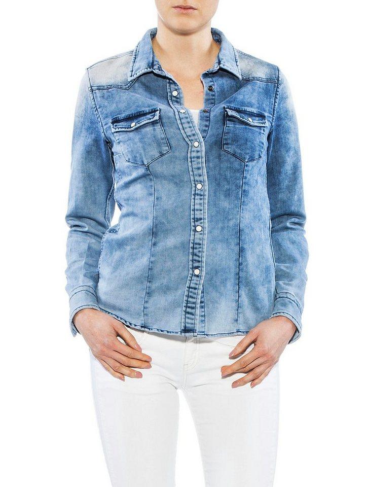 Herrlicher Jeansbluse Im Coolen Denim Style Medium?$formatz$