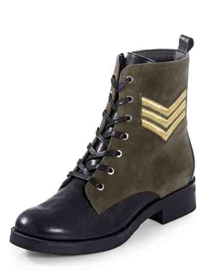 Alba Moda Boot im trendstarken Military Style