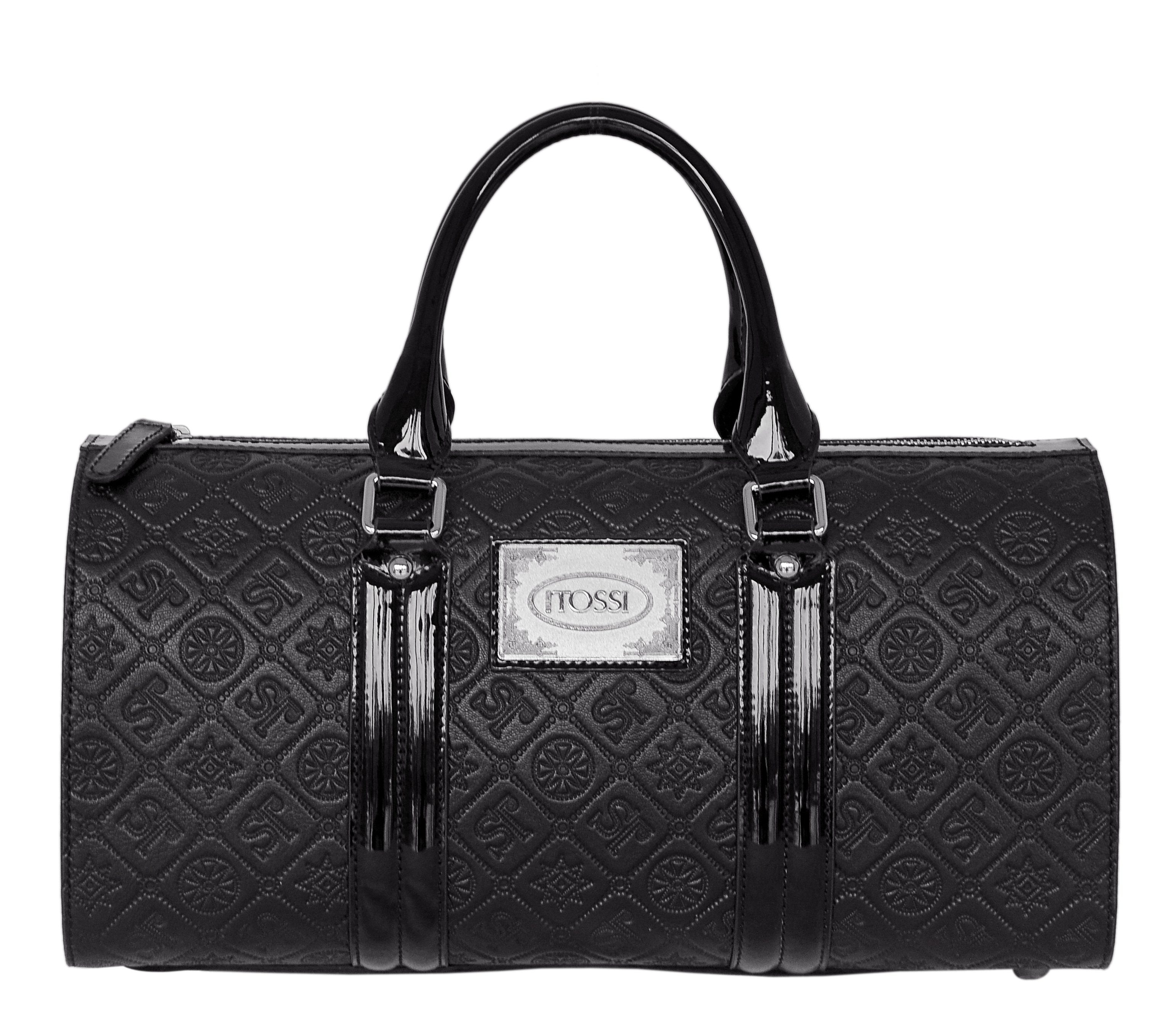Silvio Tossi Lederhandtasche mit Markenprägung