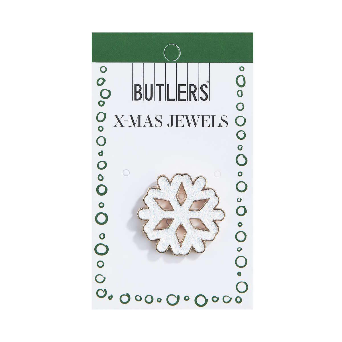 BUTLERS X-MAS »Anstecker Schneeflocke«