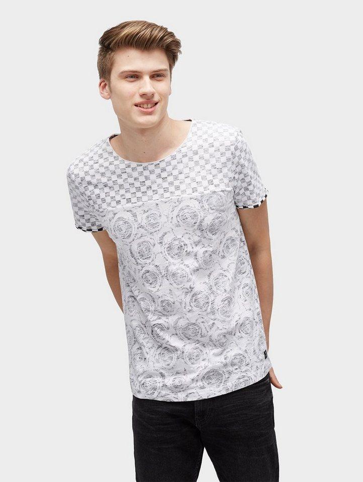 Herren TOM TAILOR Denim  T-Shirt T-Shirt im Mustermix grau | 04060868007715