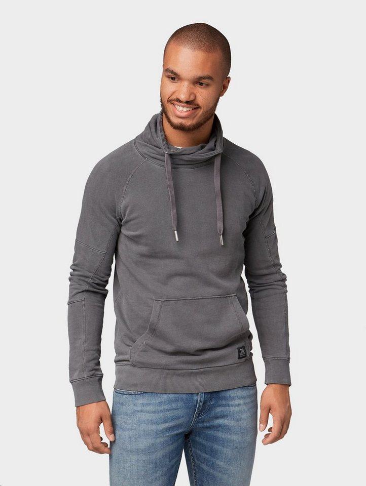 Herren TOM TAILOR Denim  Sweatshirt Sweatshirt mit Schalkragen schwarz | 04060868307631