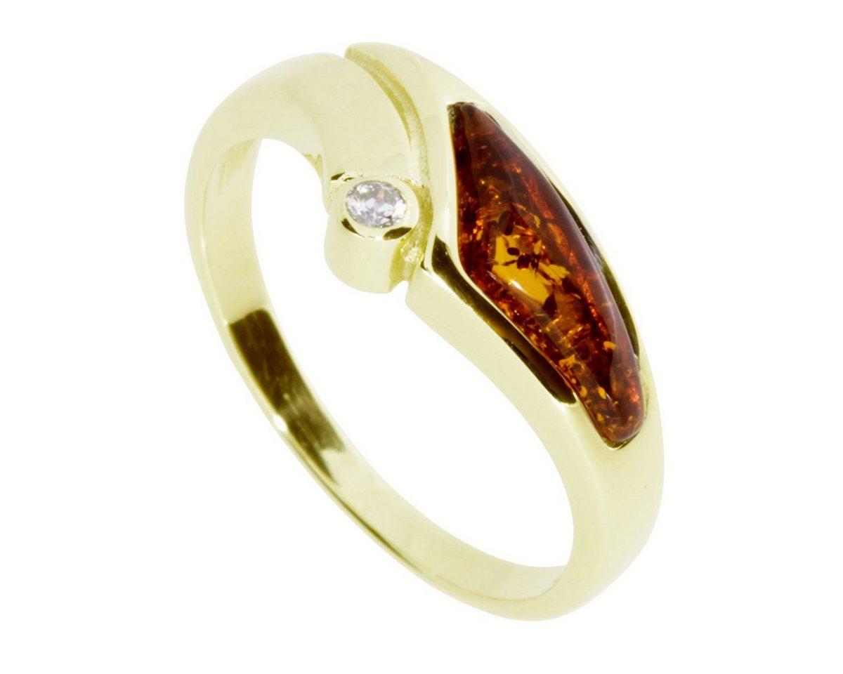 OSTSEE-SCHMUCK Fingerring »Agneta Gold 333/000 Bernstein/Zirkonia« | Schmuck > Ringe > Fingerringe | Goldfarben | OSTSEE-SCHMUCK
