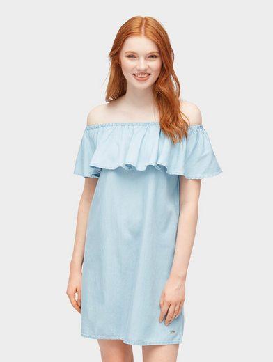tom tailor denim sommerkleid »carmen-kleid« kaufen   otto