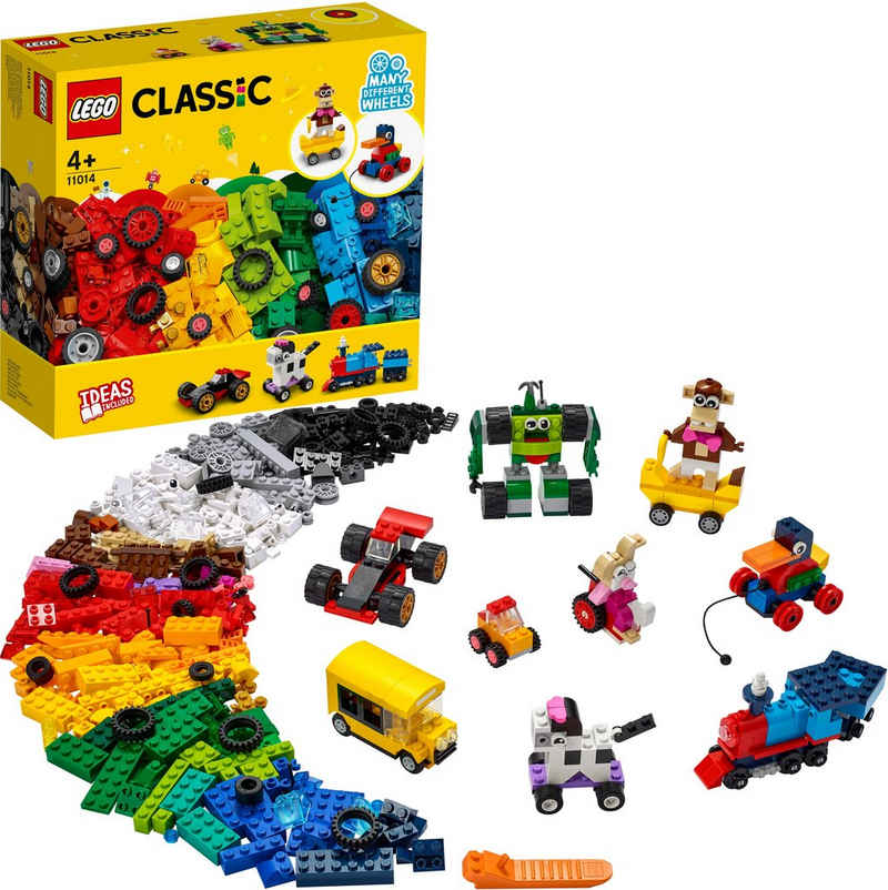 LEGO® Konstruktionsspielsteine »Steinebox mit Rädern (11014), LEGO® Classic«, (653 St), Made in Europe