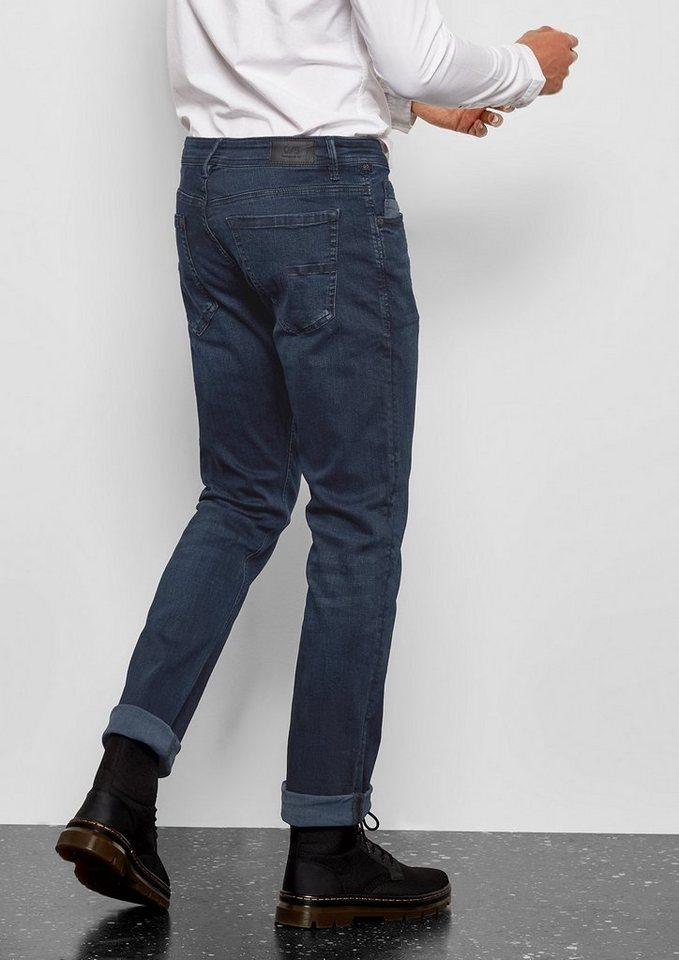 Herren Q S designed by Pete Straight: Colored Denim blau   04056523770216
