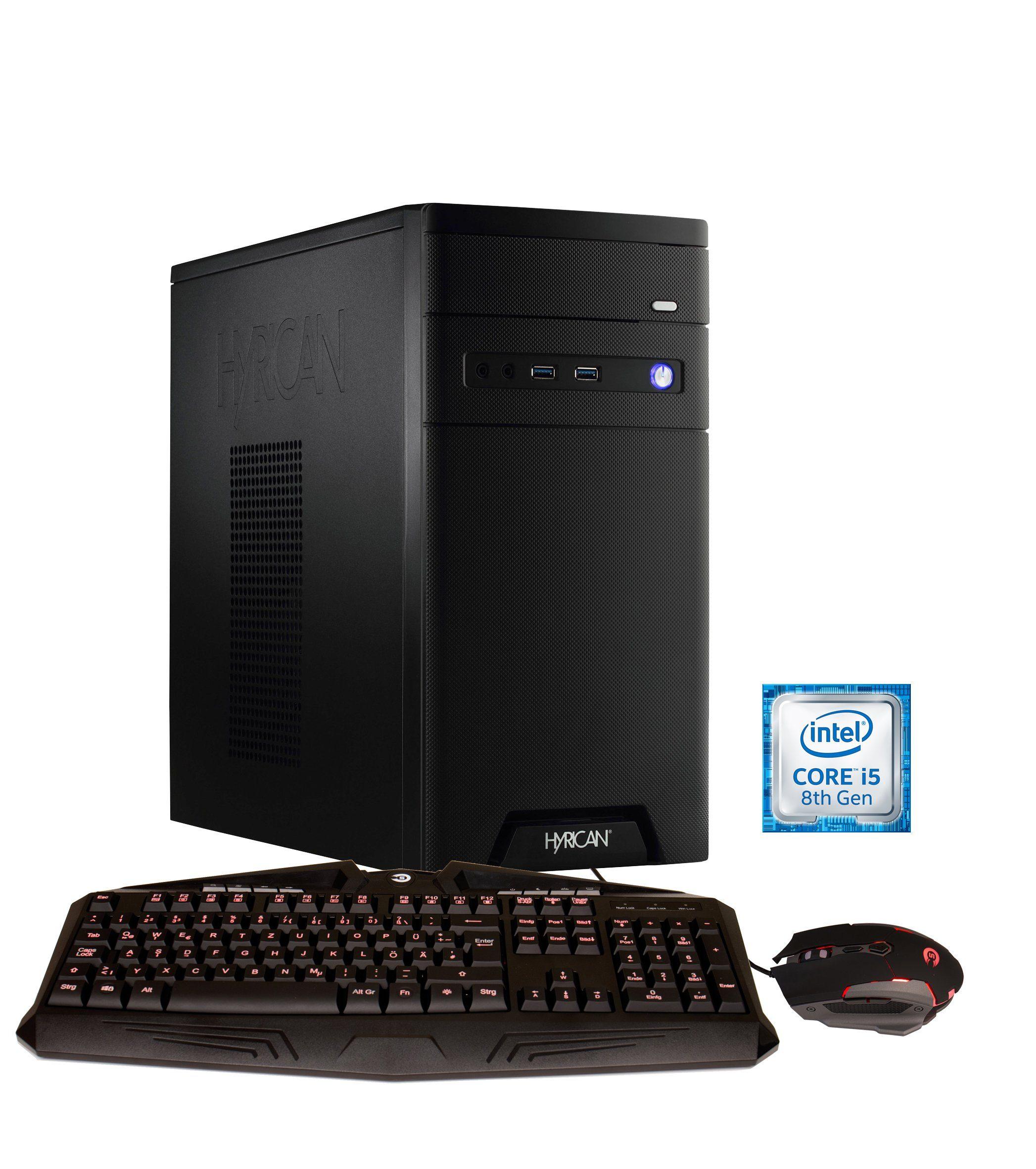 HYRICAN CyberGamer Intel® i5-8400 8GB 120GB 1TB GeForce® GTX 1050 »Cyber Gamer 6021«