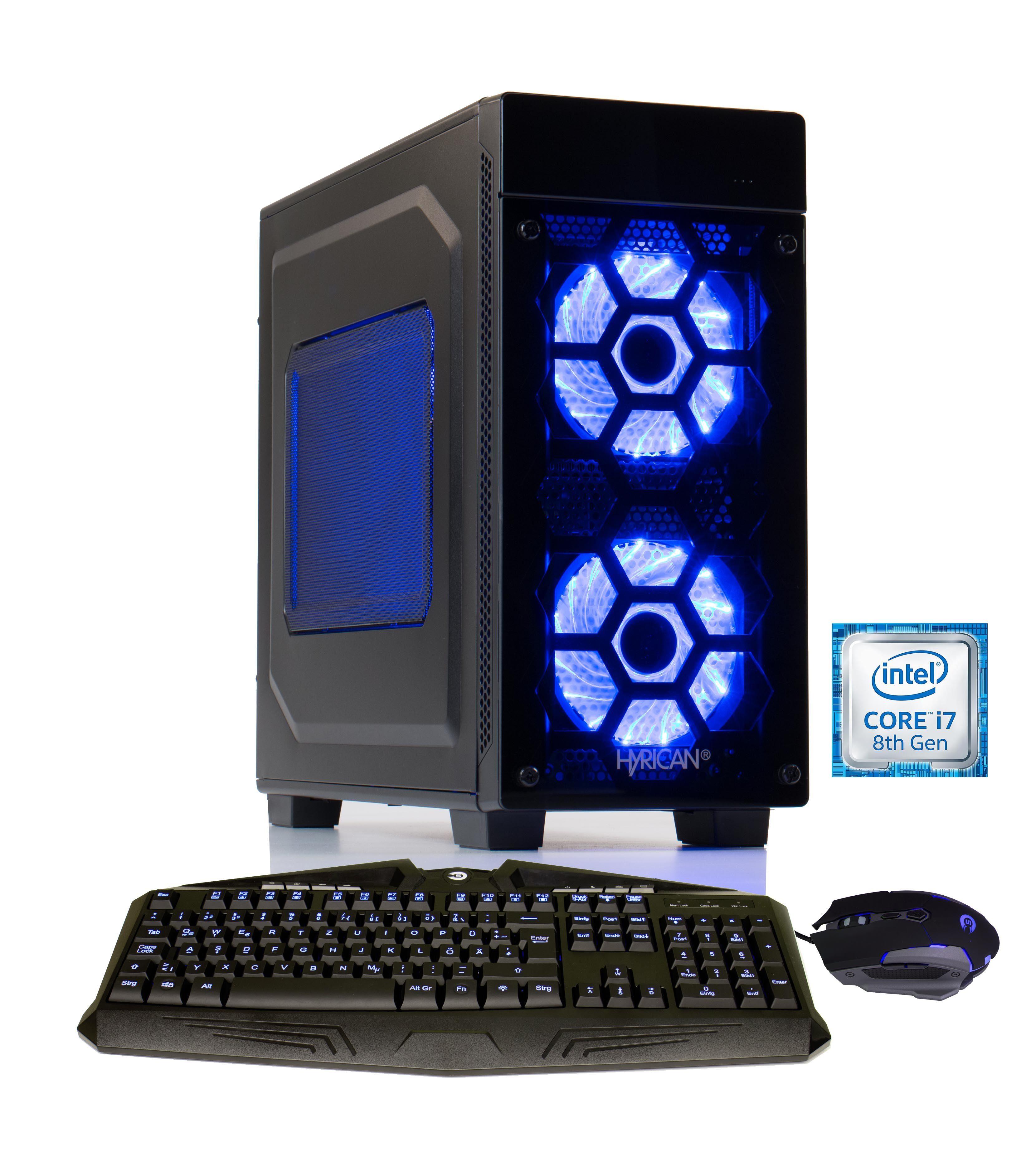 HYRICAN Gaming PC Intel® i7-8700 16GB HDD SSD GeForce® GTX 1070 »Striker 6025«
