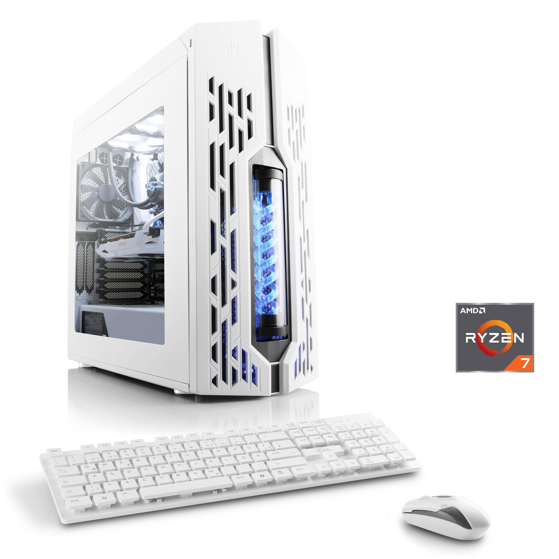 CSL Gaming PC | AMD Ryzen 7 2700X | GTX 1070 | 16 GB RAM | SSD »Snow Edition T8600 Wasserkühlung«