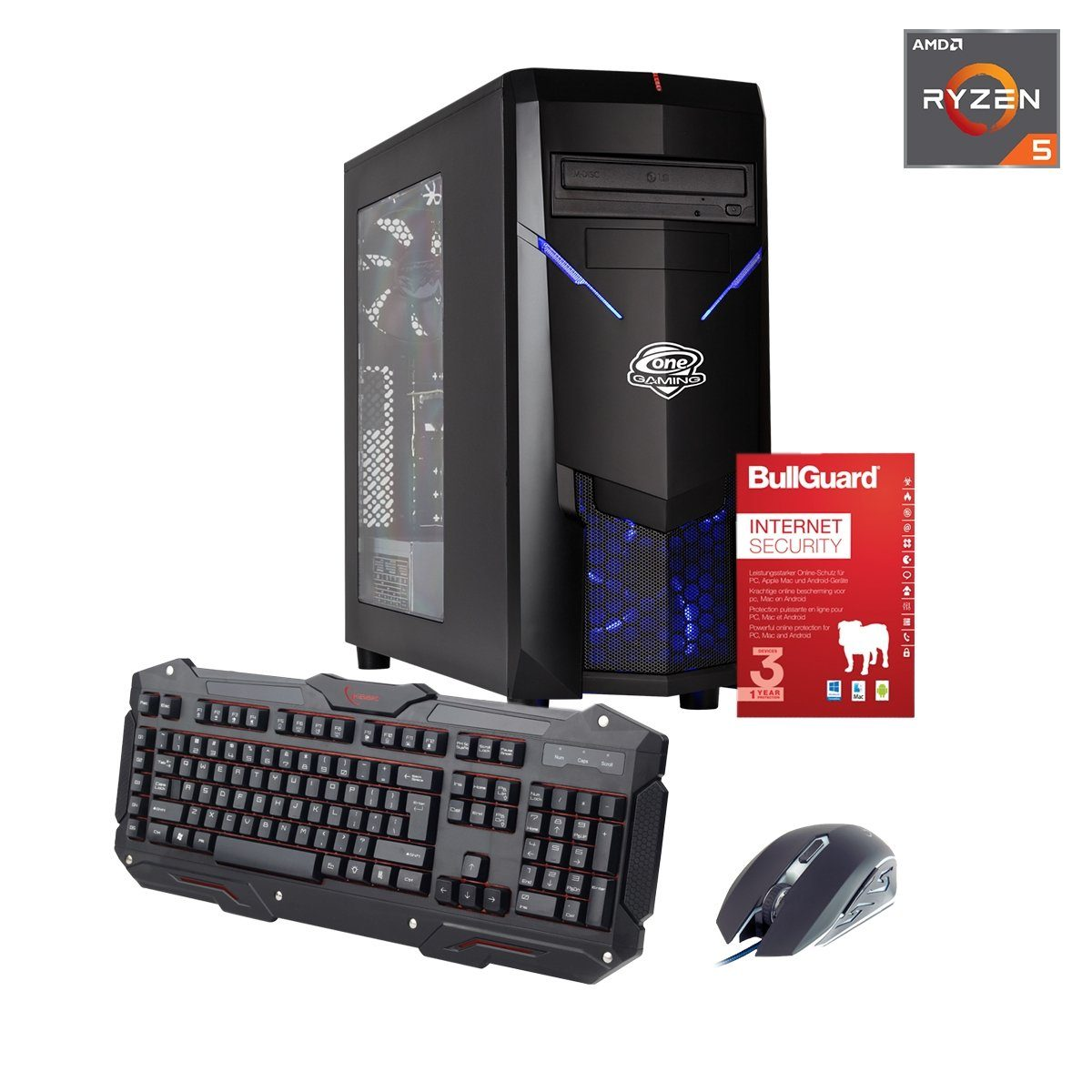 ONE GAMING PC, Ryzen 5 2600X, GeForce RTX 2080, 32GB DDR4 RAM »PC 44722«