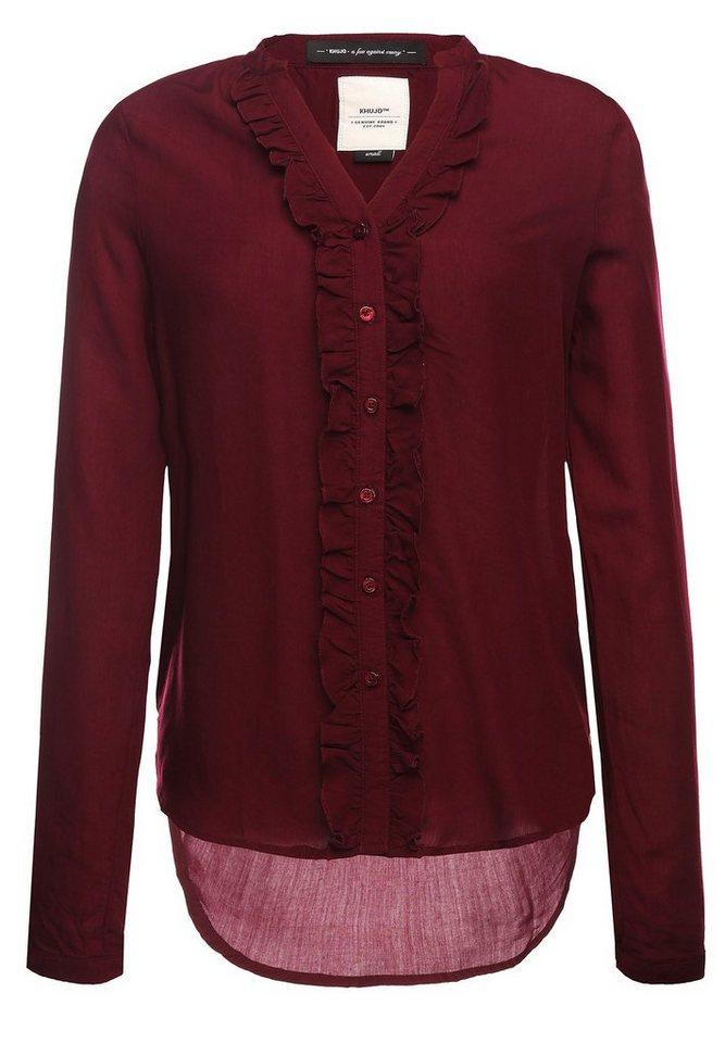 khujo Klassische Bluse »MILJA« | Bekleidung > Blusen > Klassische Blusen | Rot | khujo