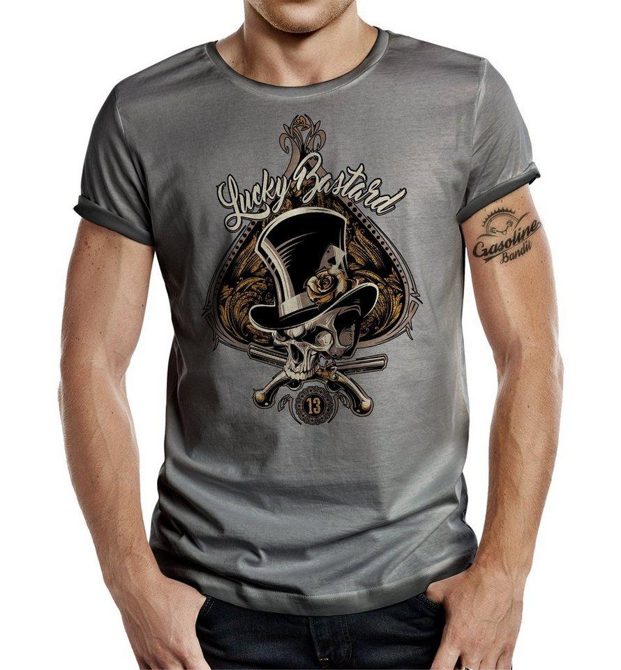 GASOLINE BANDIT® T-Shirt mit auffälligem Druck