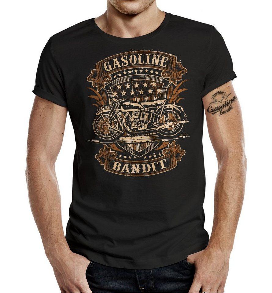 gasoline bandit t shirt old school biker kaufen otto. Black Bedroom Furniture Sets. Home Design Ideas