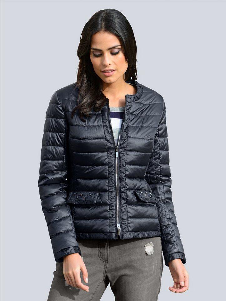 Alba Moda Jacke mit modischen Blende in Kräuseloptik online kaufen ... effde6e874