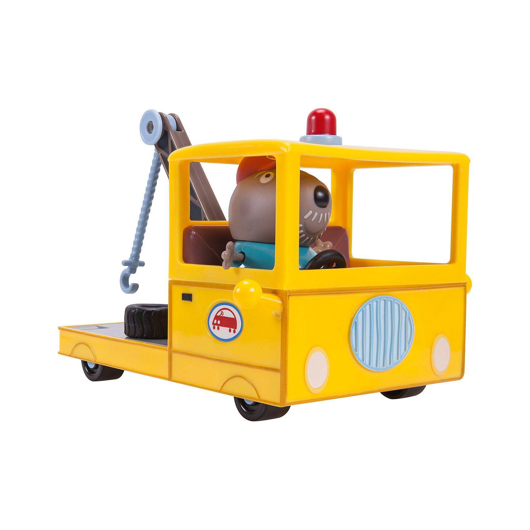 Jazwares PEPPA - Opa Kläffs 15 cm langer Abschleppwagen mit 1 Spielf