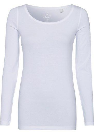 Esprit Langarmshirt im unifarbenen Design