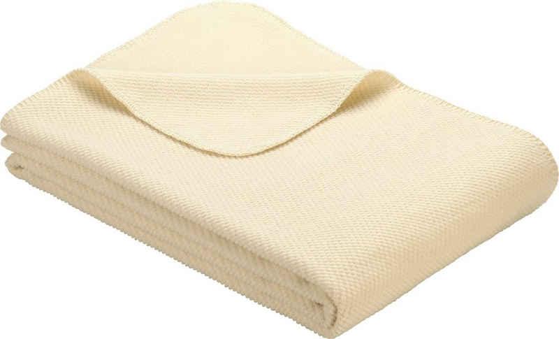 Wolldecke »Jacquard Decke Auckland«, IBENA, GOTS zertifiziert - nachhaltig aus Bio-Baumwolle