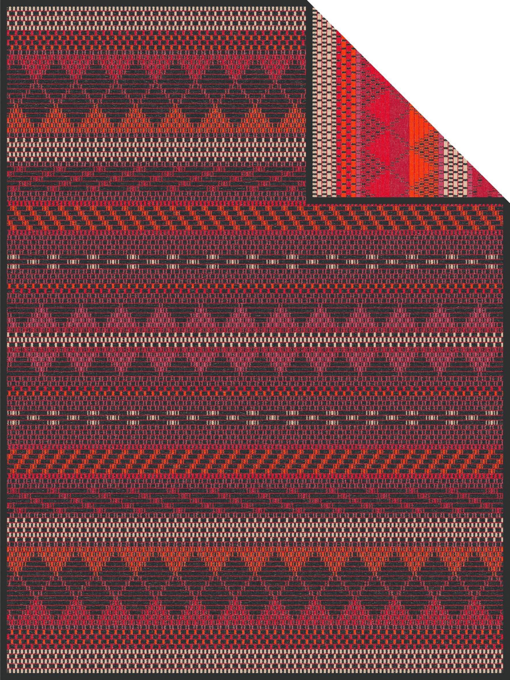 Wolldecke »Manama«, , mit Jaquard Muster