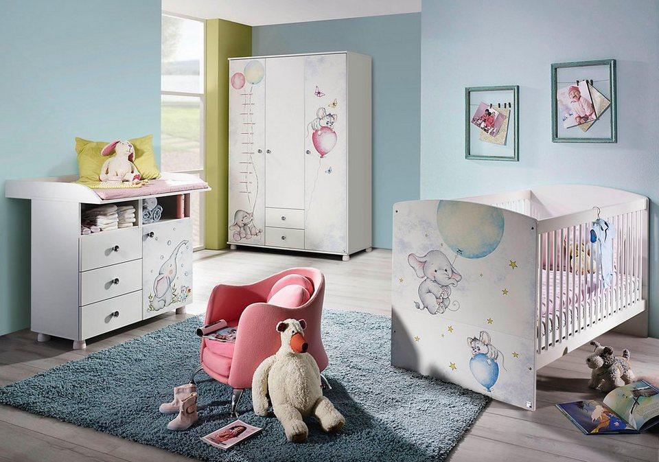 Komplettzimmer »vancouver« babybett wickelkommode 3 türiger