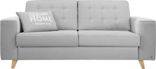 Sofas - TOM TAILOR Schlafsofa »NORDIC SLEEP«, Füße in Buche, Breite 212 cm, Matratzenbreite 143 cm  - Onlineshop OTTO