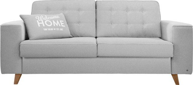 Sofas - TOM TAILOR Schlafsofa »NORDIC SLEEP«, Füße Nussbaum, Breite 232 cm, Matratzenbreite 163 cm  - Onlineshop OTTO