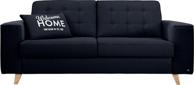 Sofas - TOM TAILOR Schlafsofa »NORDIC SLEEP«, Füße in Buche, Breite 192 cm, Matratzenbreite 123 cm  - Onlineshop OTTO