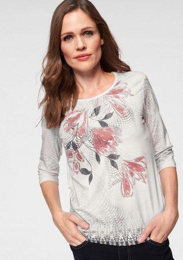 Olsen Print-Shirt mit Blumen-Druck