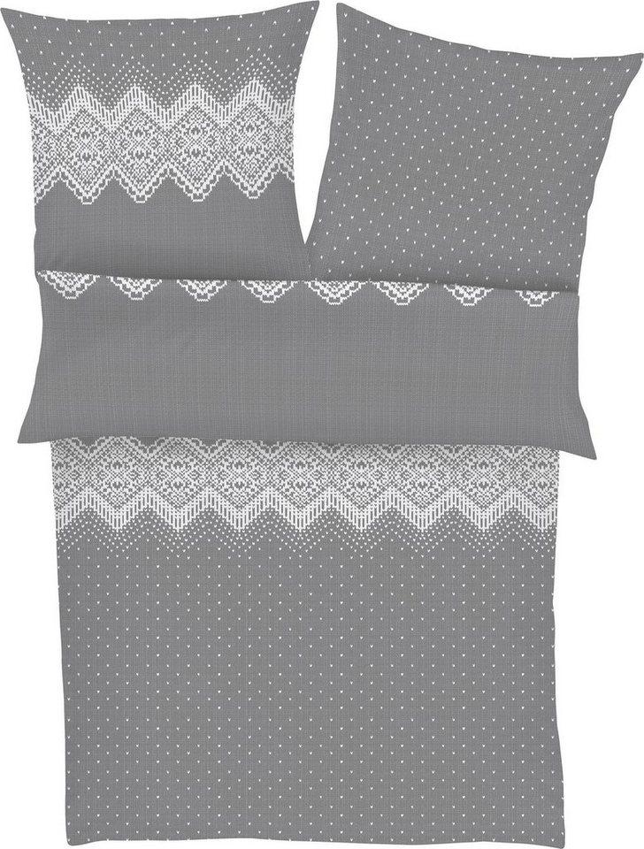 bettw sche nodula s oliver red label mit norweger muster online kaufen otto. Black Bedroom Furniture Sets. Home Design Ideas