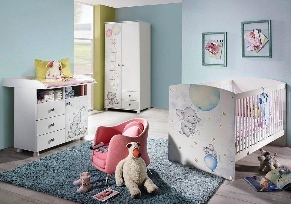 komplettzimmer vancouver babybett wickelkommode 2 t riger kleiderschrank 3 tlg set. Black Bedroom Furniture Sets. Home Design Ideas